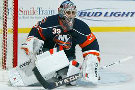 Rick DiPietro is staying positive despite his demotion.(thegoaliestore.com/wikimedia commons)
