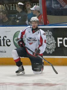 Taylor Hall starred in the CHL Top Prospects Game as a member of the Windsor Spitfires where he played from 2007-08 to 2009-10. (Tabercil/Wikimedia Commons)
