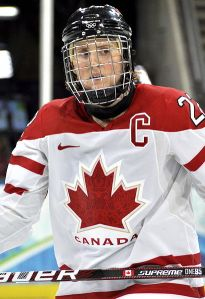 Hayley Wickenheiser is one of the most accomplished female hockey players in history. (VancityAllie.com/Wikimedia Commons)