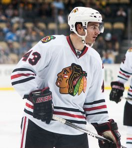 Look for Brandon Saad to have a positive impact for Chicago in the postseason. (Rich Borkowski/Wikimedia Commons)