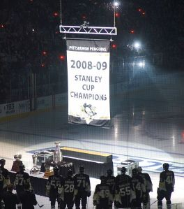 The Penguins may have to start ordering their Stanley Cup banners in bulk. (Michael Miller/Wikimedia Commons)